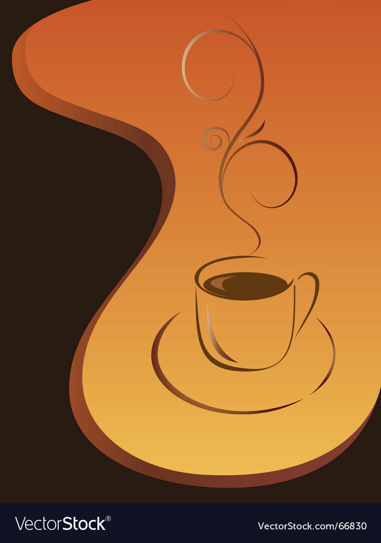 Morning cup of black coffee vector | Price: 1 Credit (USD $1)