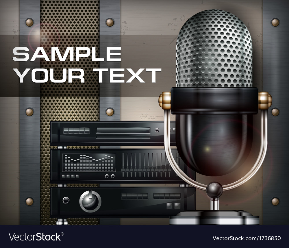 Recording studio vector | Price: 1 Credit (USD $1)