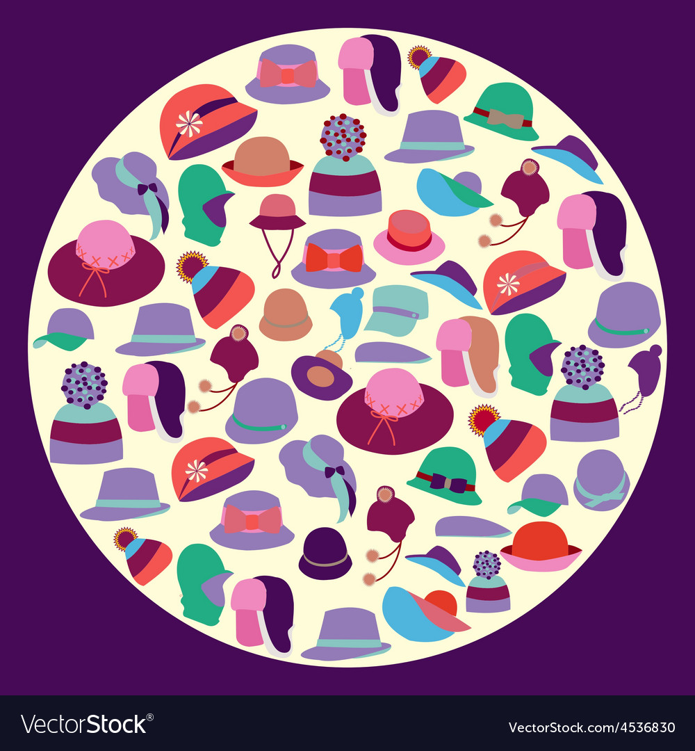 Set fashion hats for men and women vector | Price: 1 Credit (USD $1)
