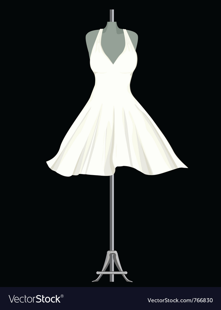 White dress vector | Price: 1 Credit (USD $1)