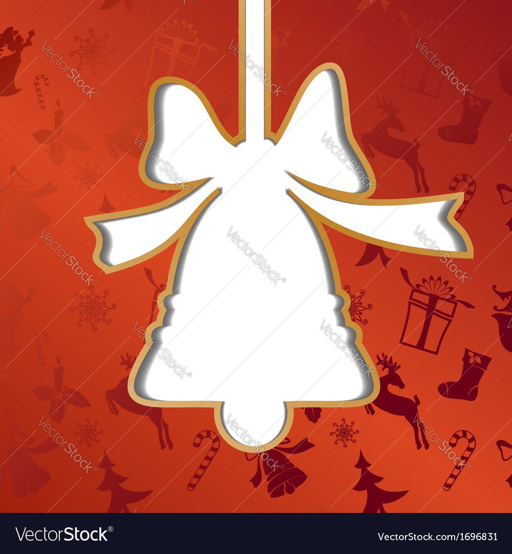 Christmas bell festive background vector   Price: 1 Credit (USD $1)