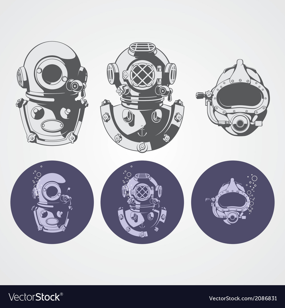 Dive helments vector | Price: 1 Credit (USD $1)