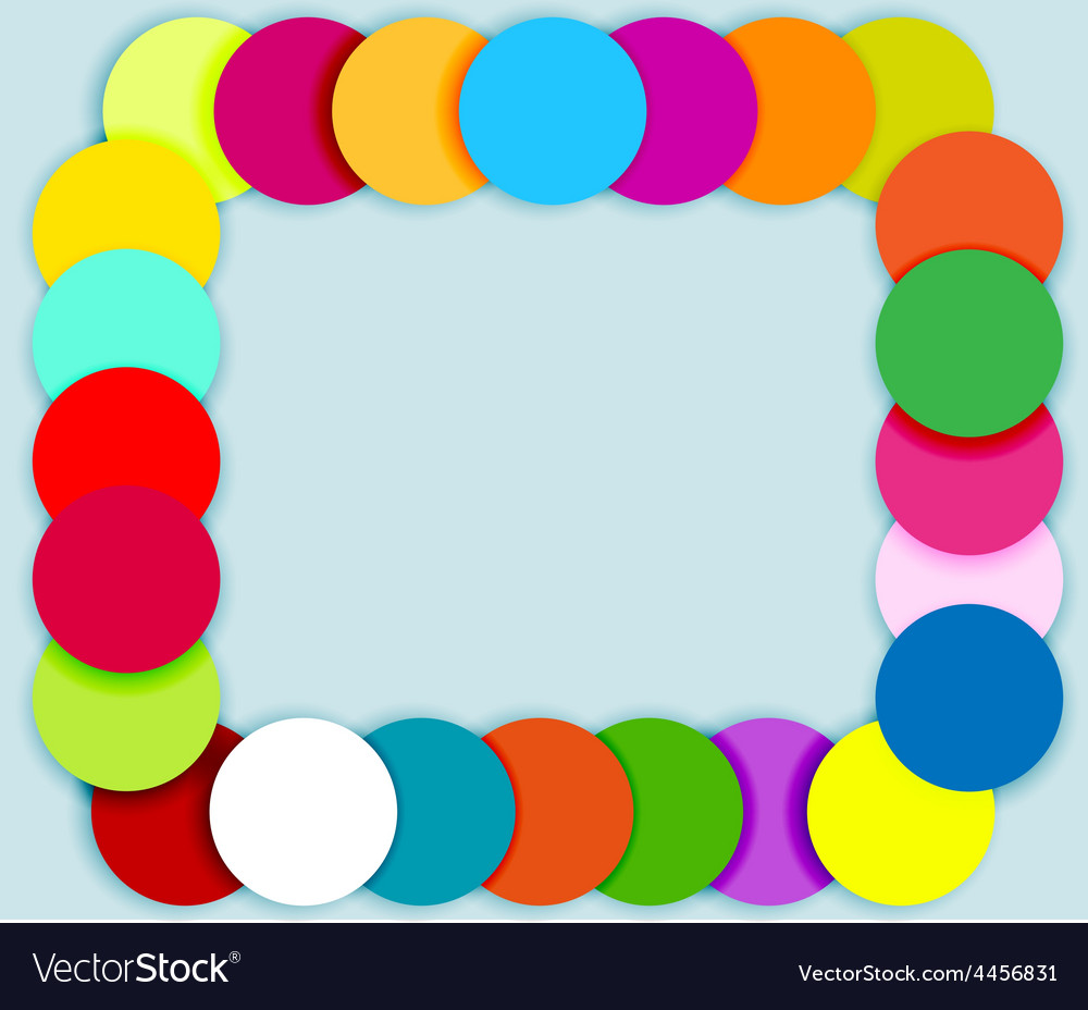 Frame made of color circles vector | Price: 1 Credit (USD $1)