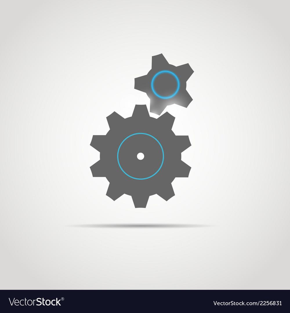 Glowing gears copy vector | Price: 1 Credit (USD $1)