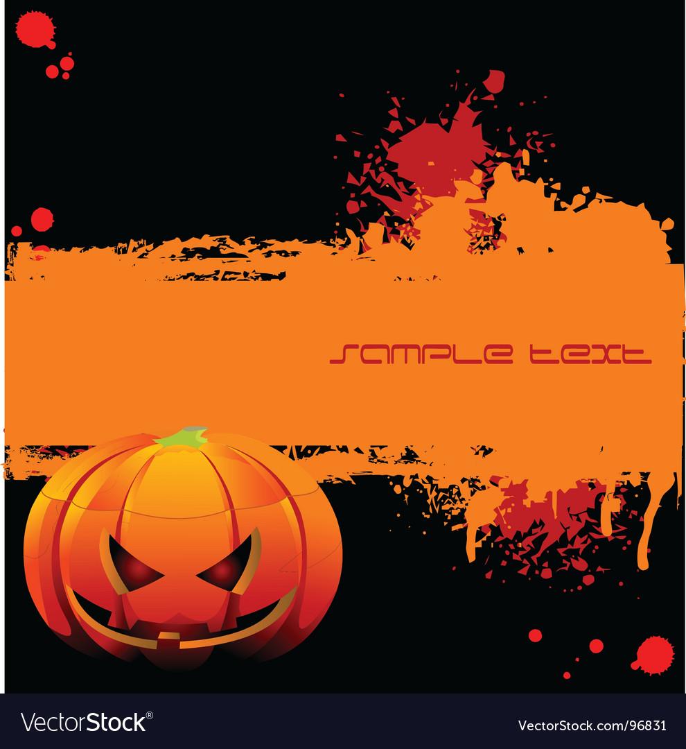 Halloween grunge banner vector | Price: 1 Credit (USD $1)