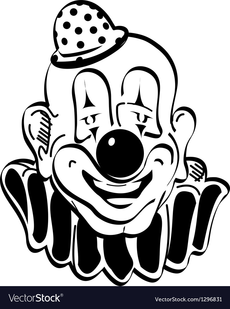 Happy clown vector | Price: 1 Credit (USD $1)