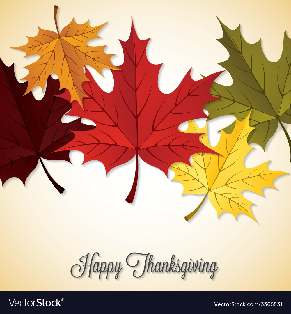 Maple leaf thanksgiving card in format vector   Price: 1 Credit (USD $1)