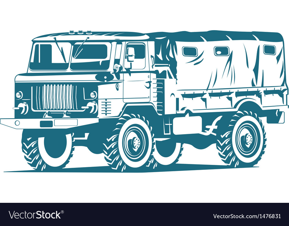 Military truck vector   Price: 1 Credit (USD $1)