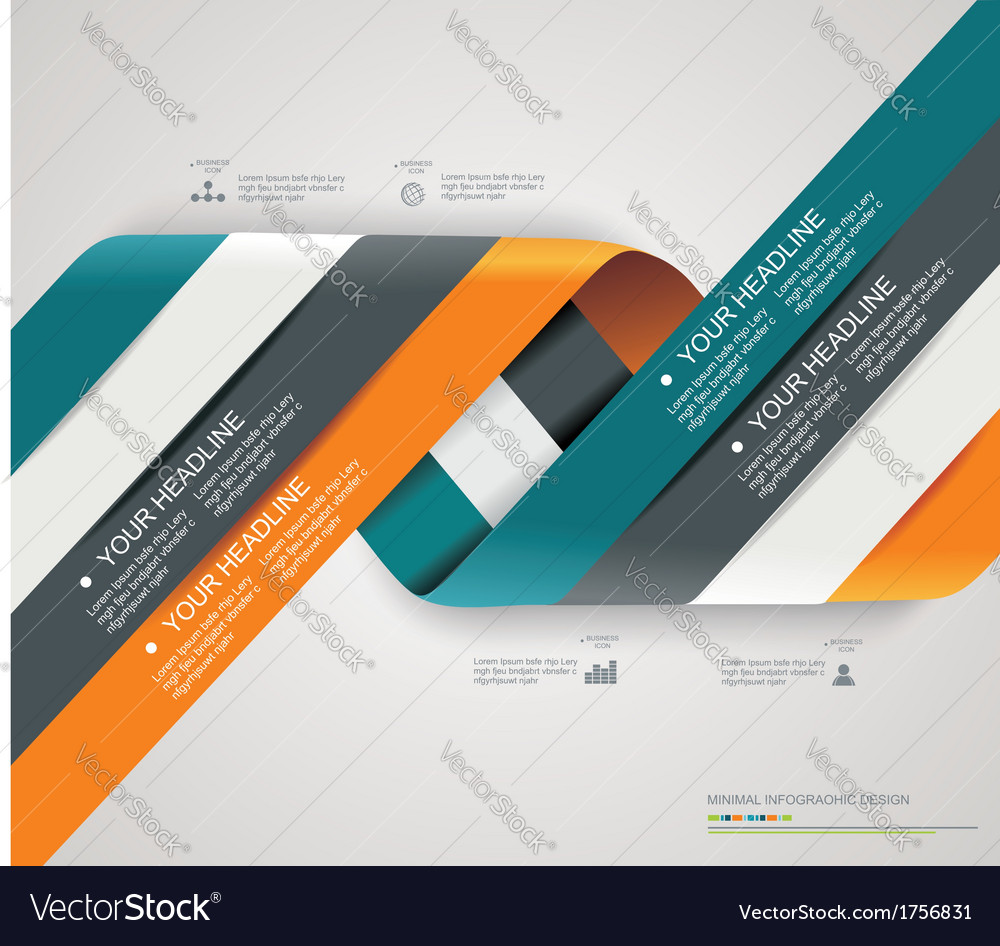 Modern spiral options banner vector | Price: 1 Credit (USD $1)