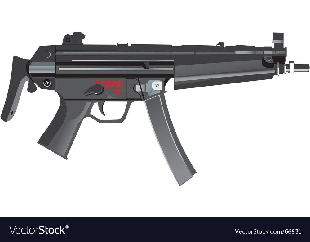 Mp5a machine gun vector | Price: 1 Credit (USD $1)