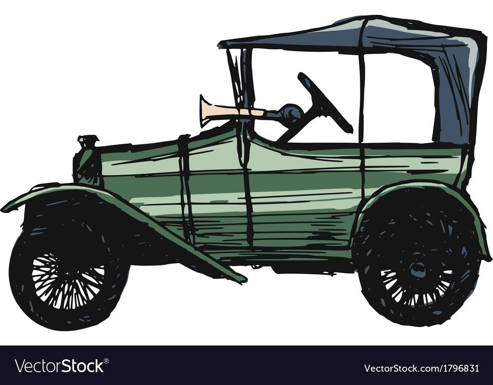 Retro car vector | Price: 1 Credit (USD $1)