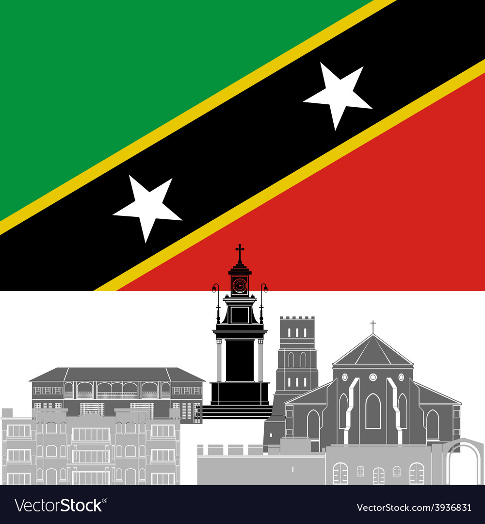Saint kitts and nevis vector | Price: 1 Credit (USD $1)