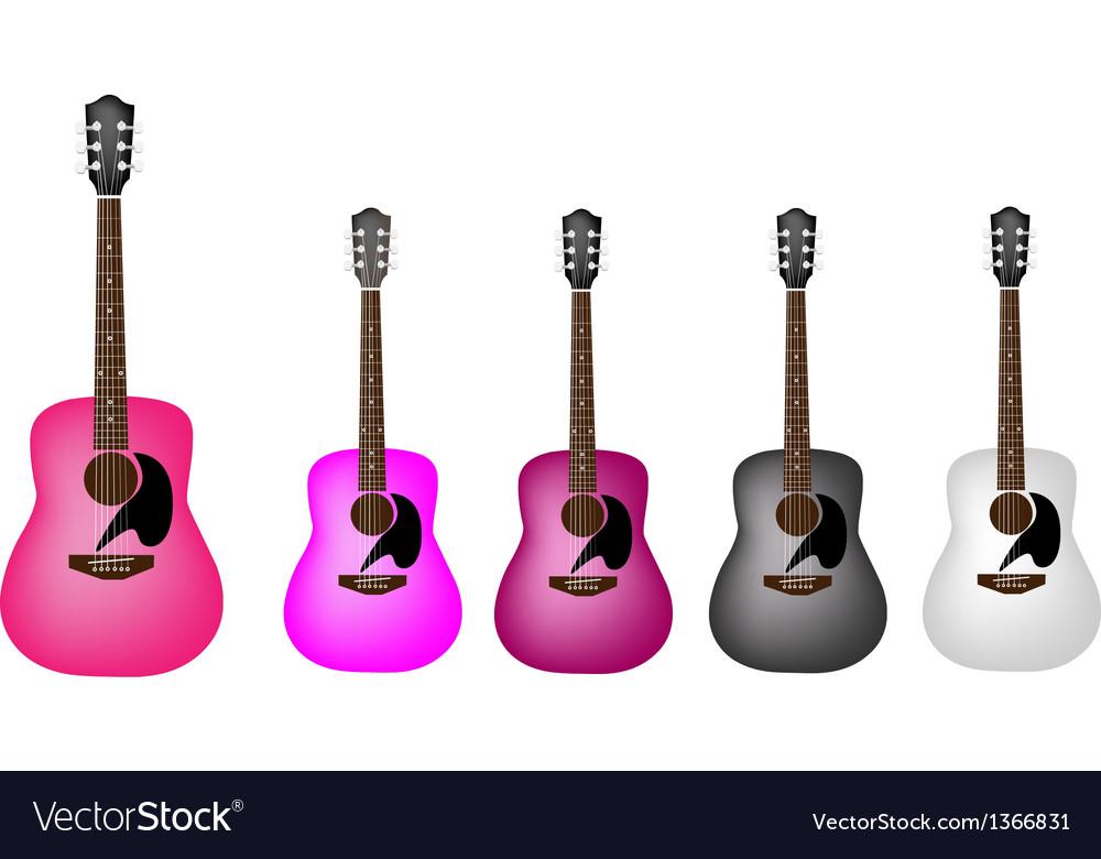 Set of beautiful acoustic guitars vector   Price: 1 Credit (USD $1)
