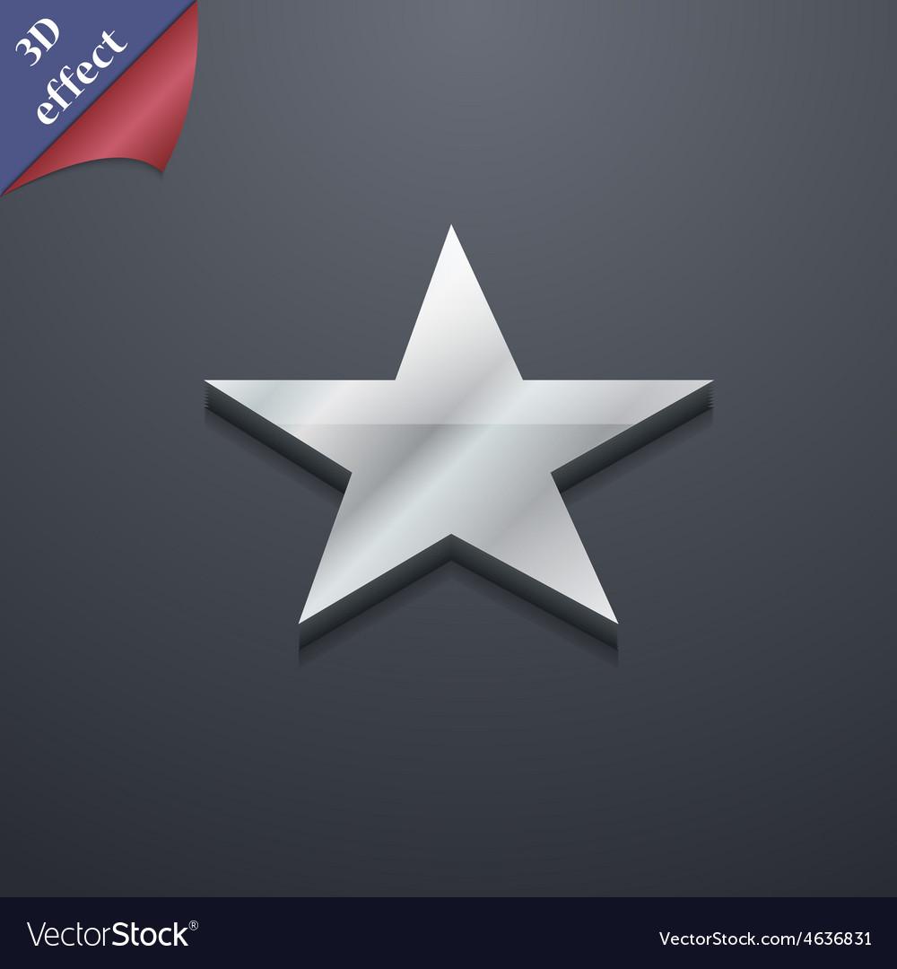 Star favorite icon symbol 3d style trendy modern vector | Price: 1 Credit (USD $1)