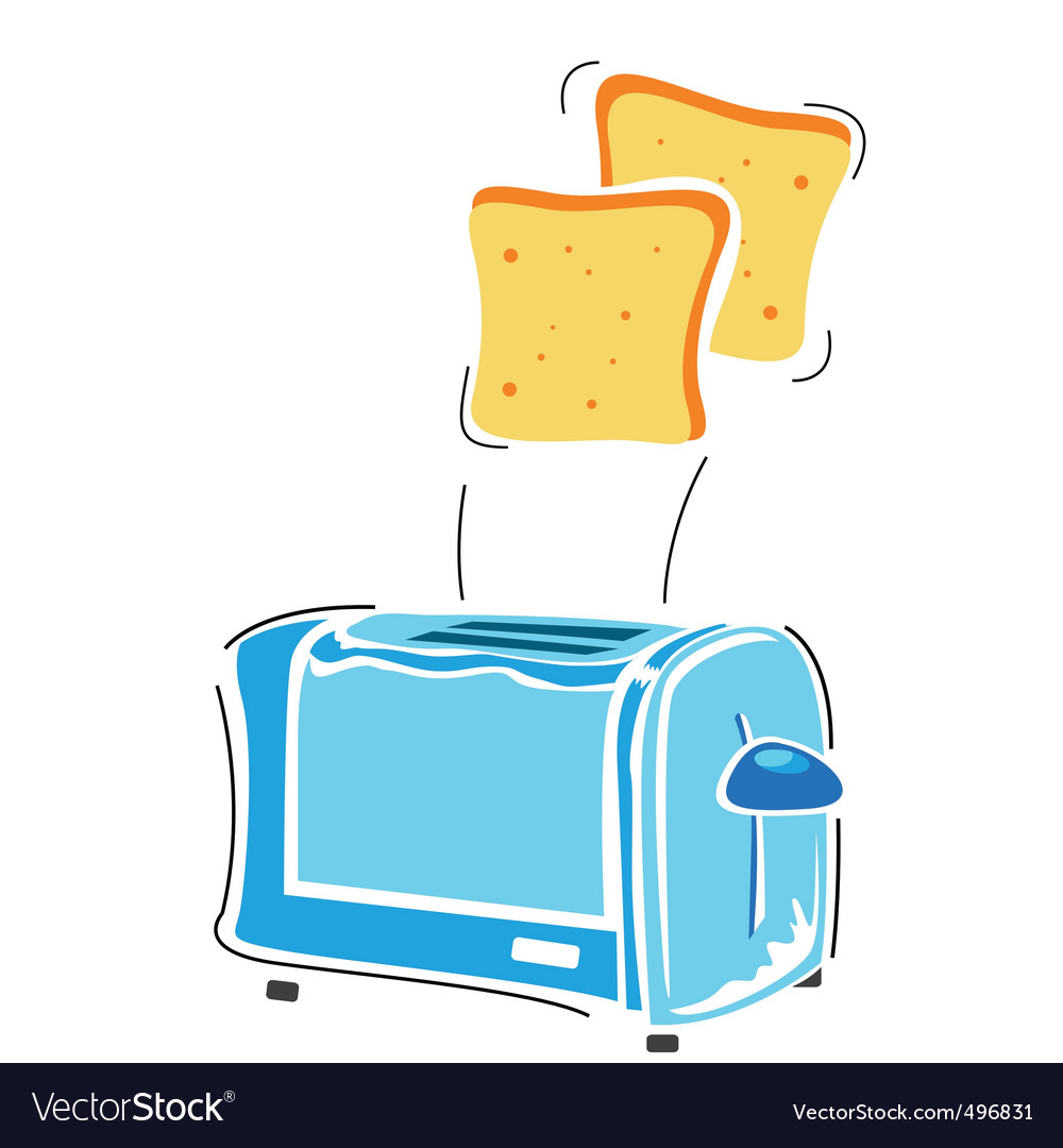 Toaster with slice vector | Price: 1 Credit (USD $1)