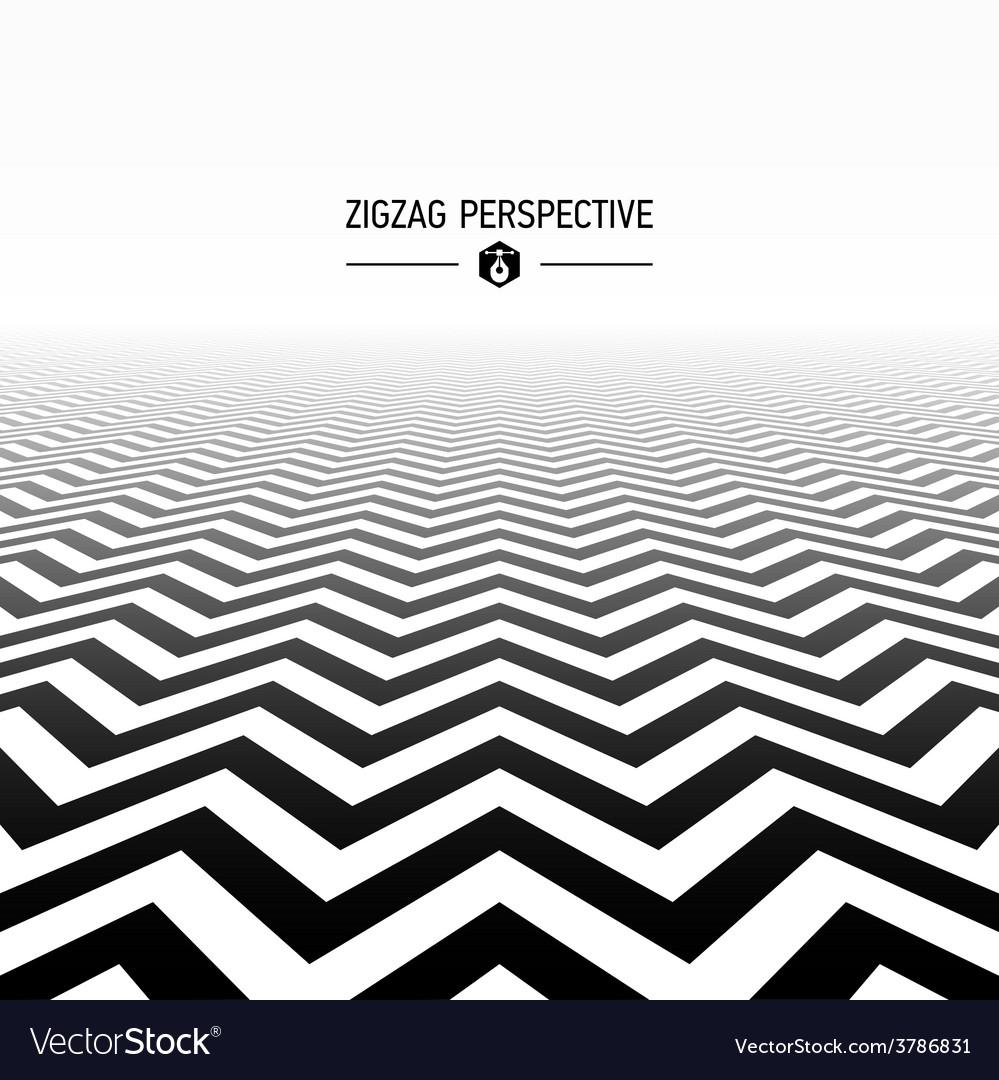 Zigzag pattern perspective vector | Price: 1 Credit (USD $1)