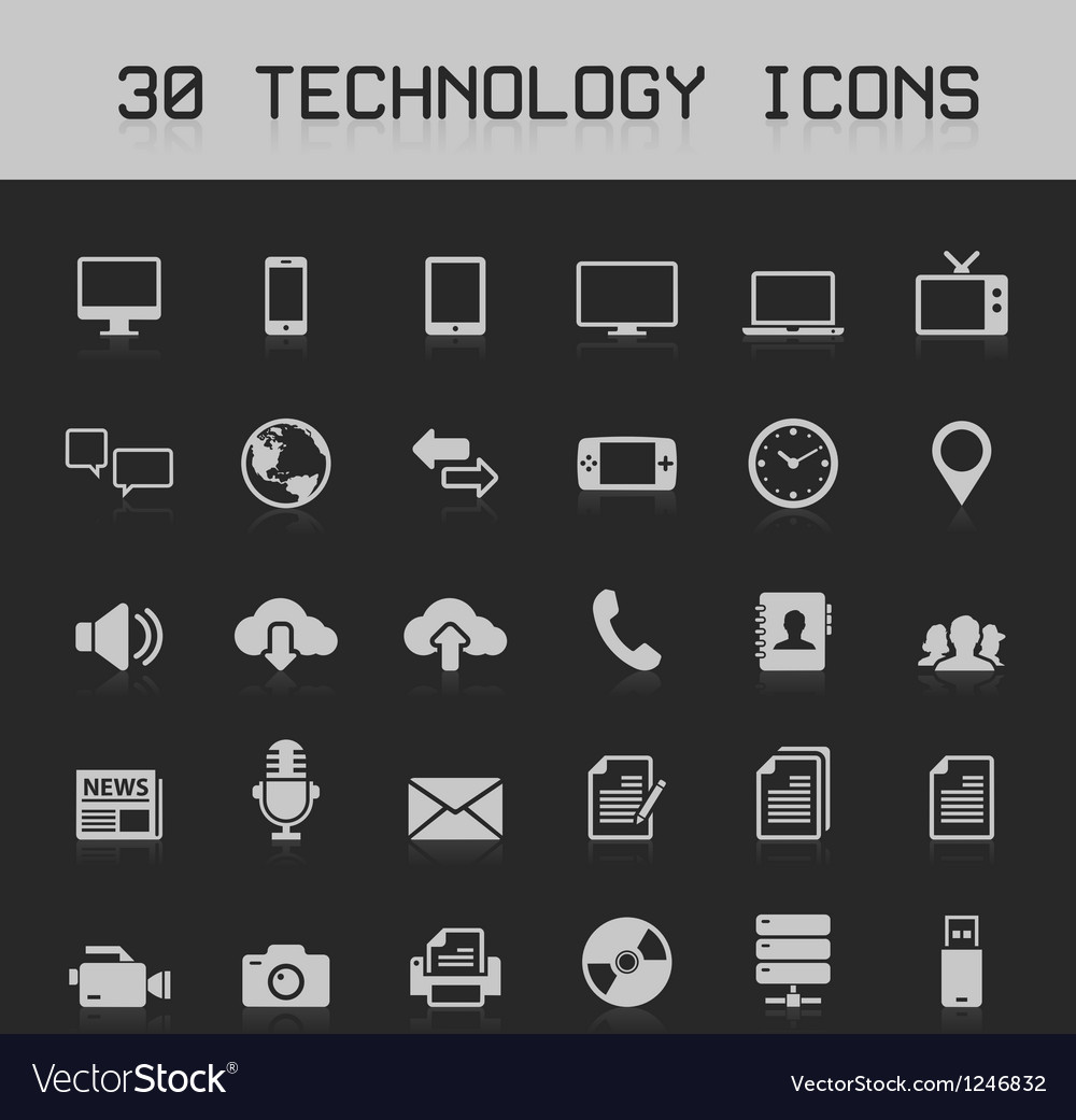 30 light technology icons vector | Price: 1 Credit (USD $1)