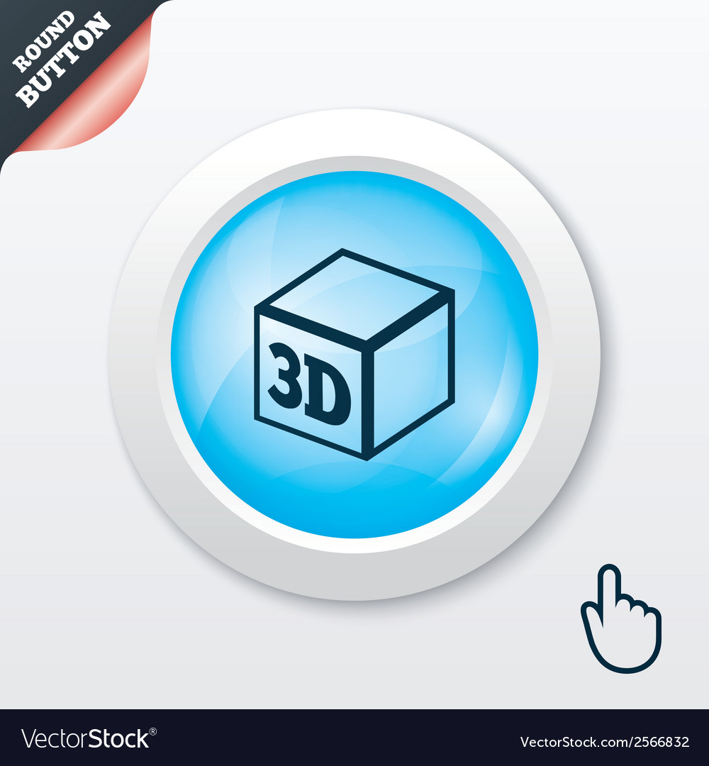 3d print sign icon 3d cube printing symbol vector   Price: 1 Credit (USD $1)
