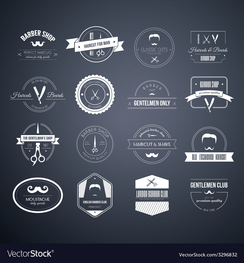 Barber logos vector | Price: 1 Credit (USD $1)