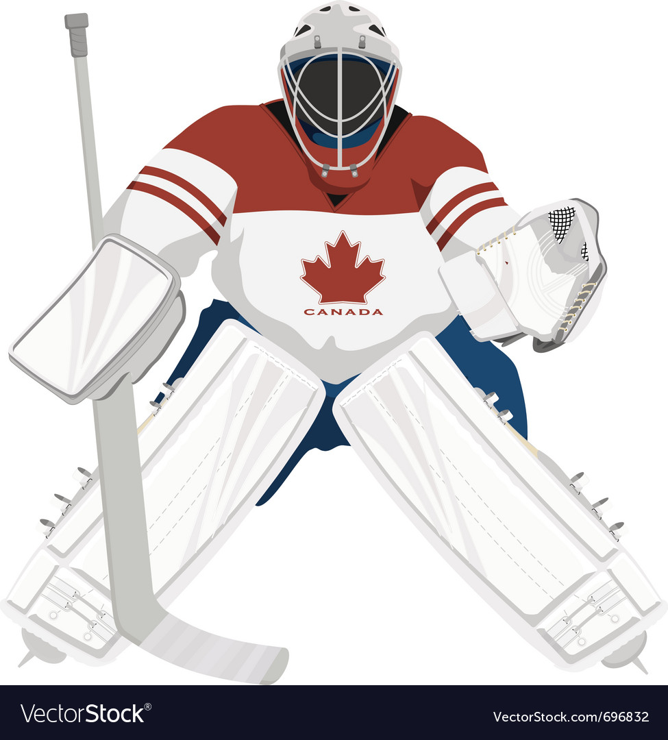 Canada hockey goalie vector | Price: 1 Credit (USD $1)