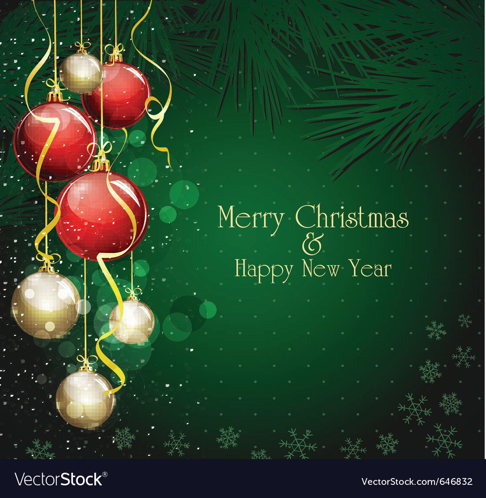 Christmas festive background vector | Price: 1 Credit (USD $1)