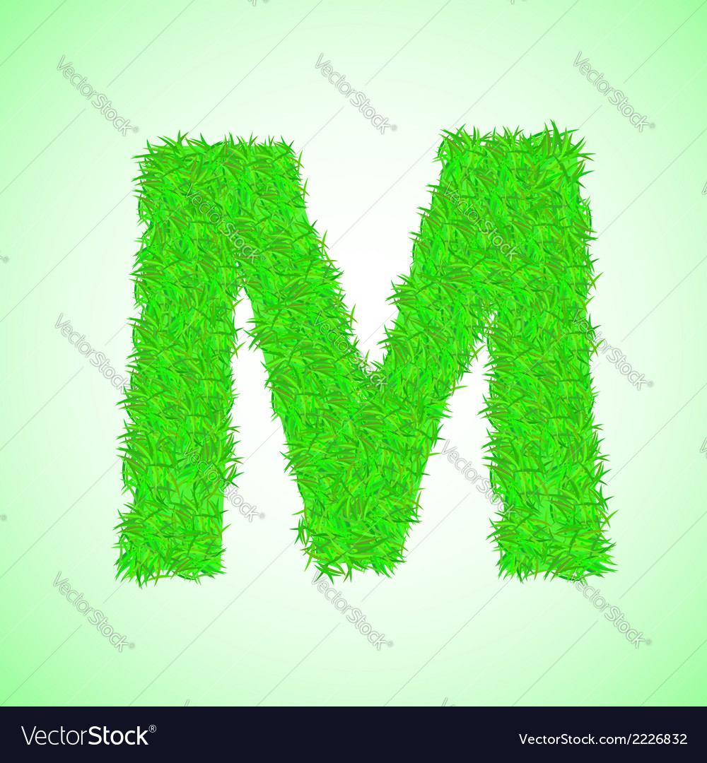 Grass letter m vector | Price: 1 Credit (USD $1)