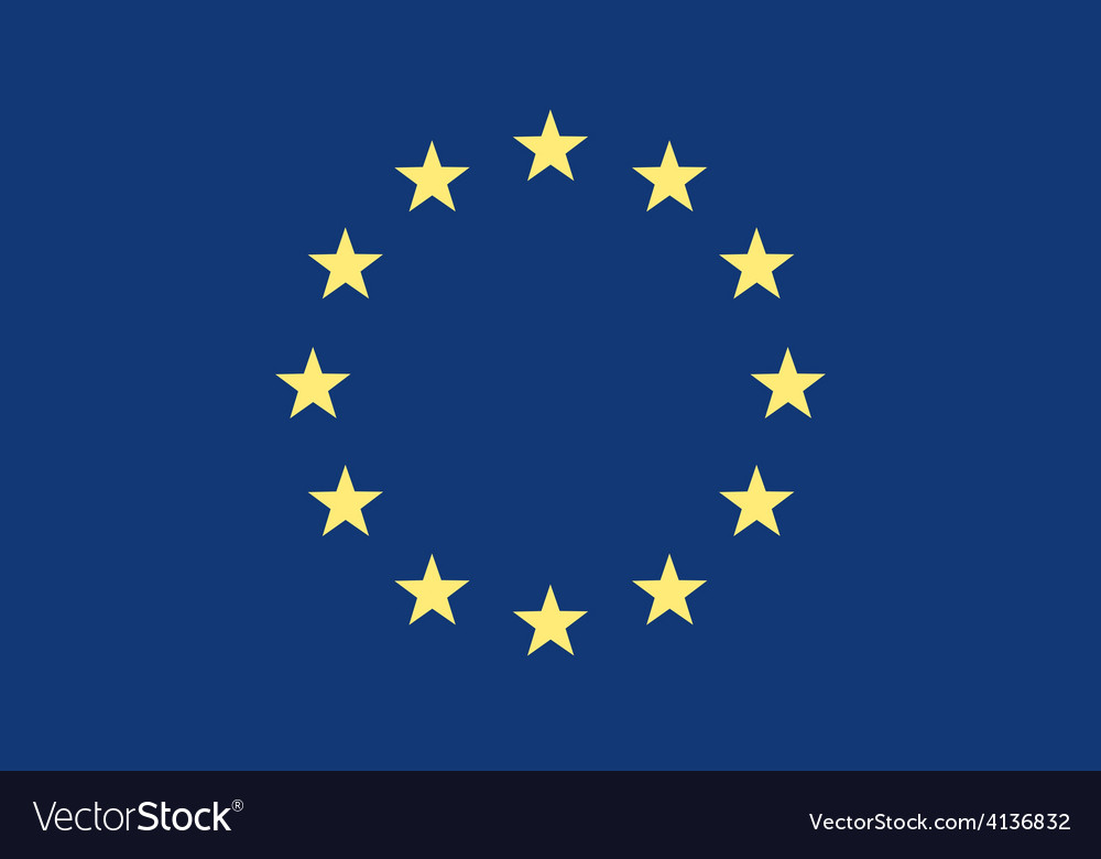 Grunge flag of europe vector | Price: 1 Credit (USD $1)