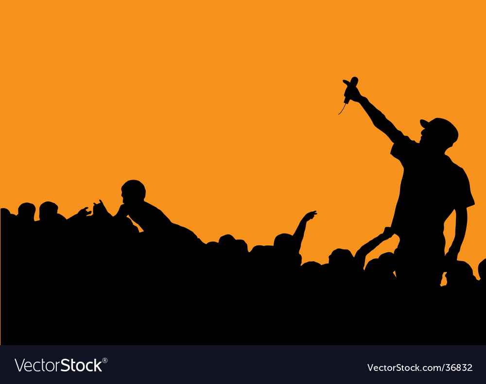 Rapper concert vector | Price: 1 Credit (USD $1)