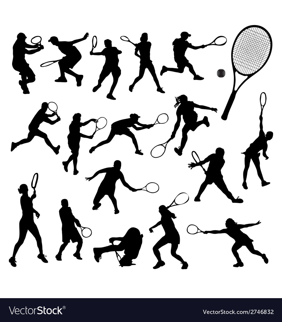 Tennis player 2 vector | Price: 1 Credit (USD $1)