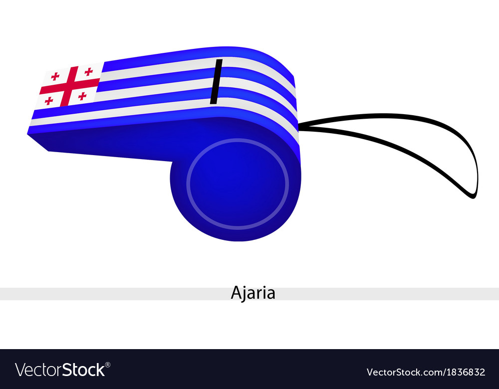 White and blue stripe on ajaria whistle vector | Price: 1 Credit (USD $1)