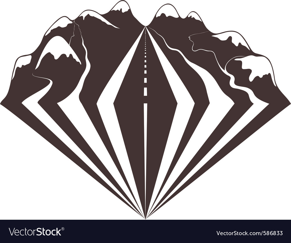 A mountains road vector | Price: 1 Credit (USD $1)