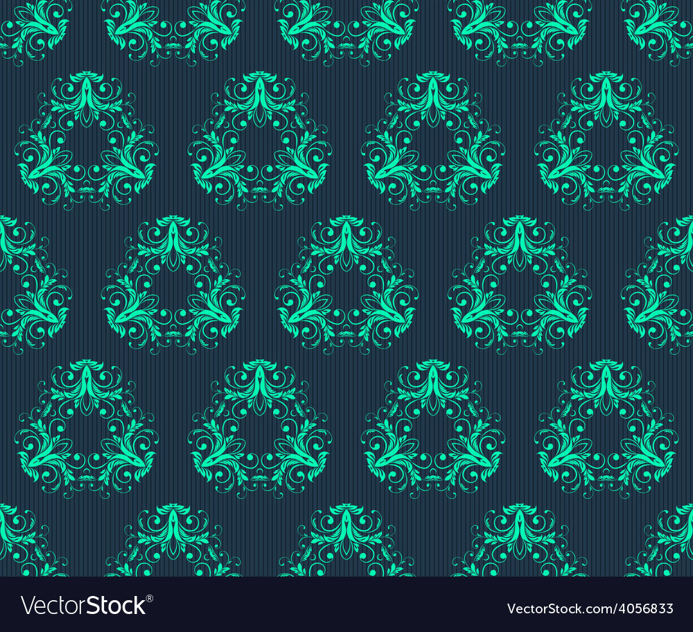 Abstract vintage seamless damask pattern vector   Price: 1 Credit (USD $1)