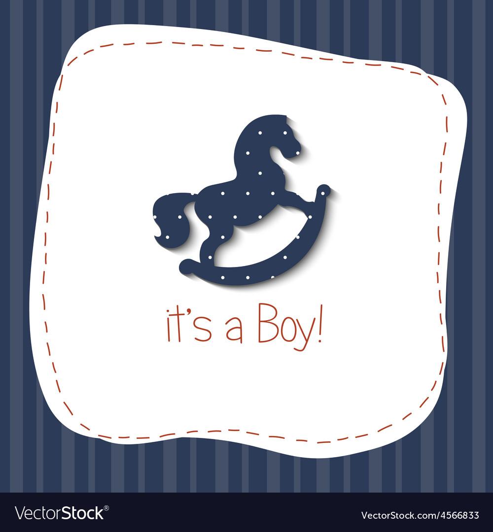 Baby born congratulation card vector | Price: 1 Credit (USD $1)