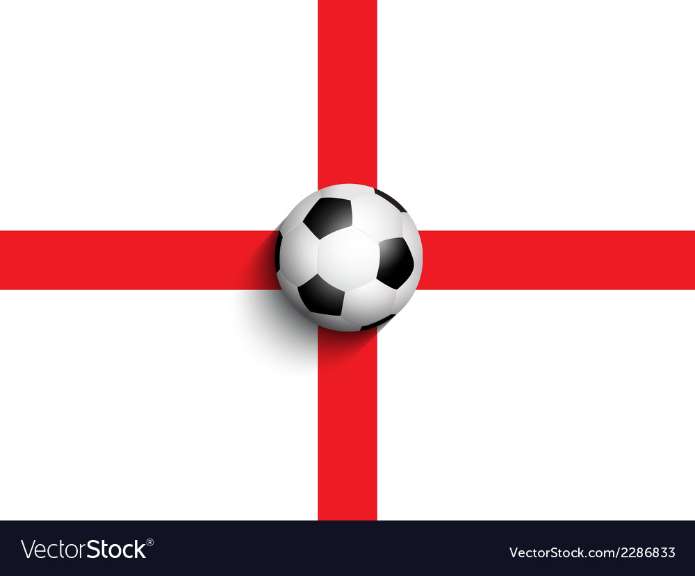 Football on england flag background 0306 vector | Price: 1 Credit (USD $1)