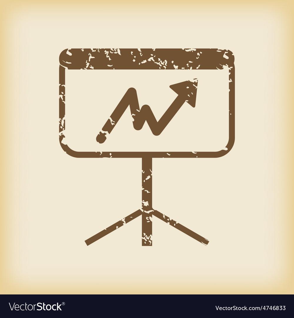 Grungy graphic presentation icon vector | Price: 1 Credit (USD $1)