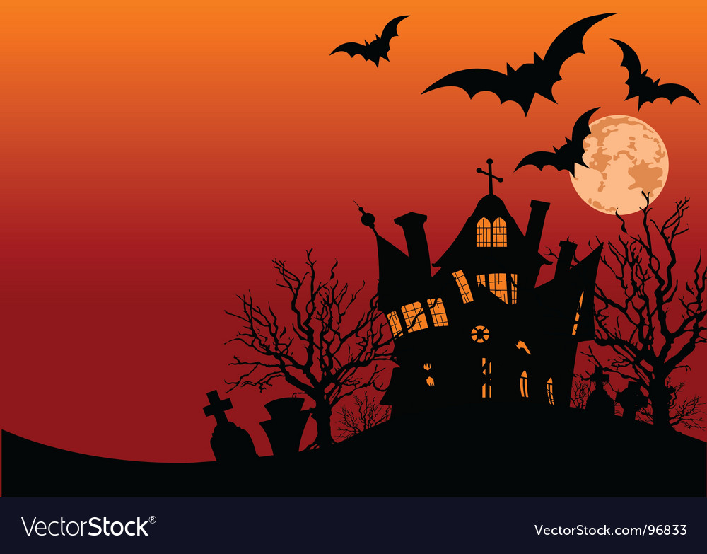 Halloween house flyer vector | Price: 1 Credit (USD $1)