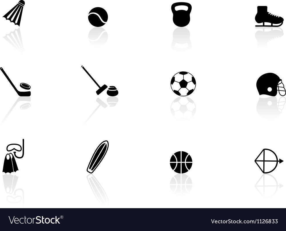Sport equipment icons vector | Price: 1 Credit (USD $1)