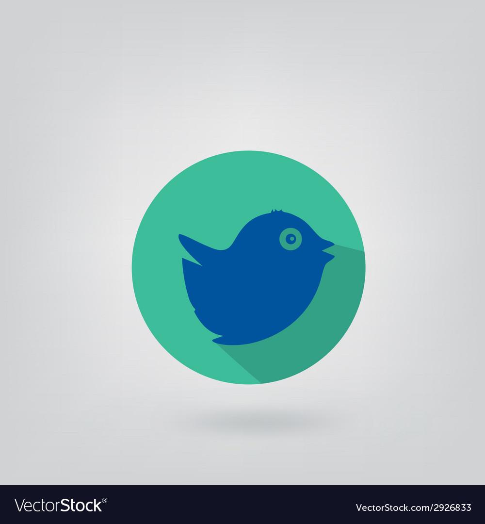 Trendy round blue twitter bird social media web vector | Price: 1 Credit (USD $1)