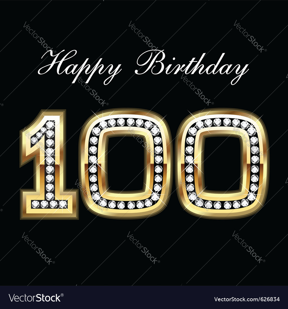 100 happy birthday vector | Price: 1 Credit (USD $1)