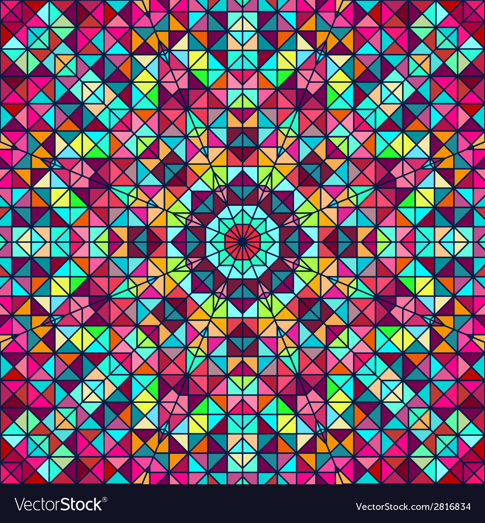 Abstract colorful digital decorative flower star vector | Price: 1 Credit (USD $1)