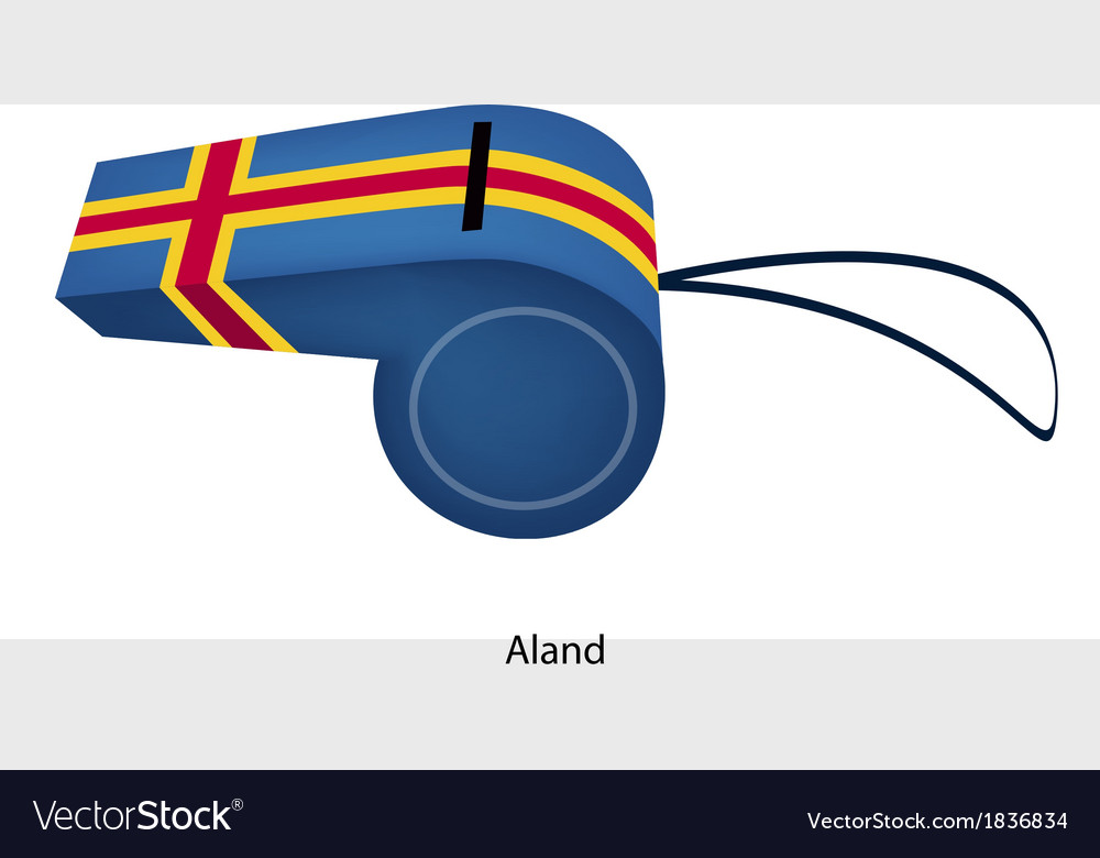 Blue color of an aland flag whistle vector | Price: 1 Credit (USD $1)