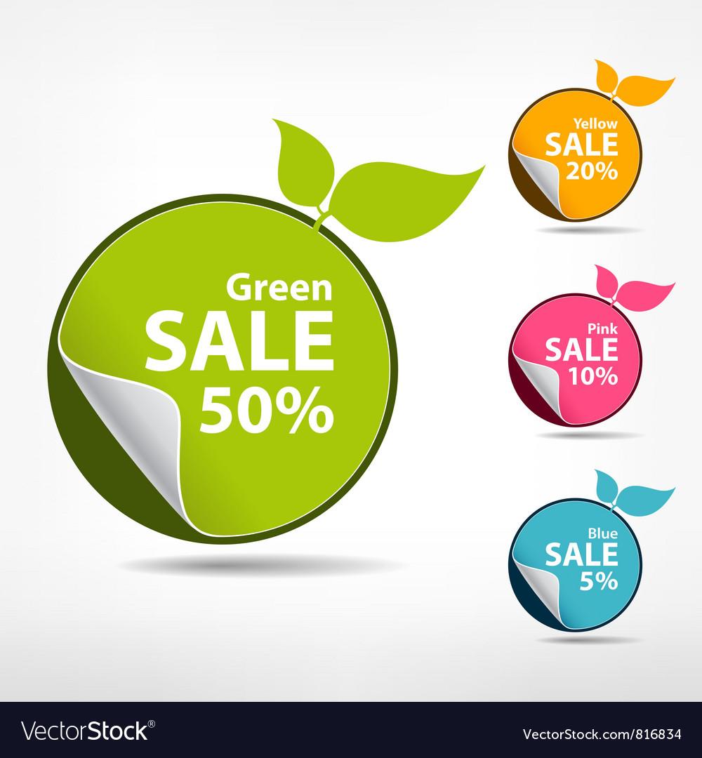 Colorful sticker price tag vector   Price: 1 Credit (USD $1)