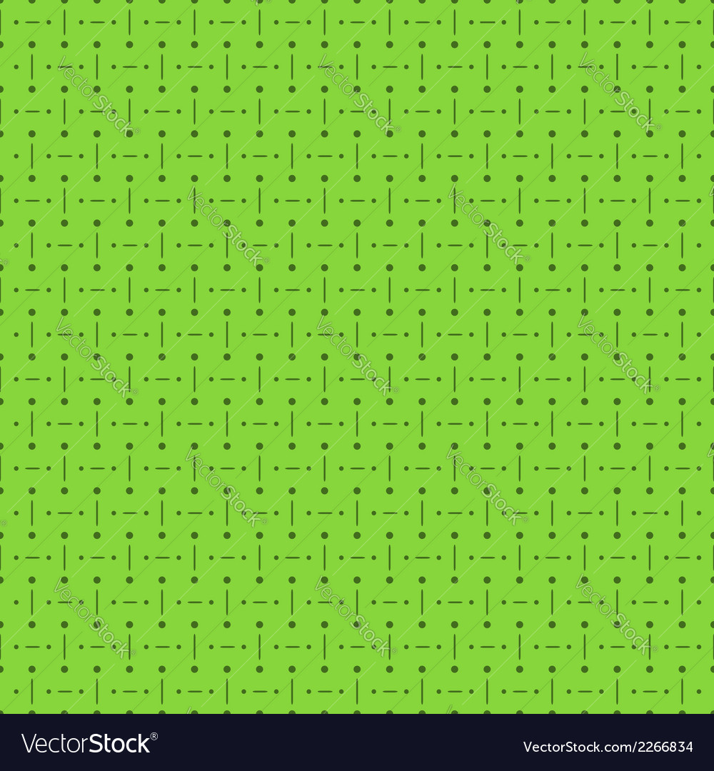 Green seamless pattern with dots and lines vector | Price: 1 Credit (USD $1)