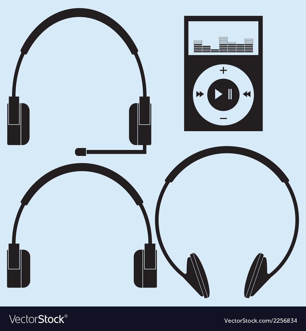 Headphones of different designs vector | Price: 1 Credit (USD $1)