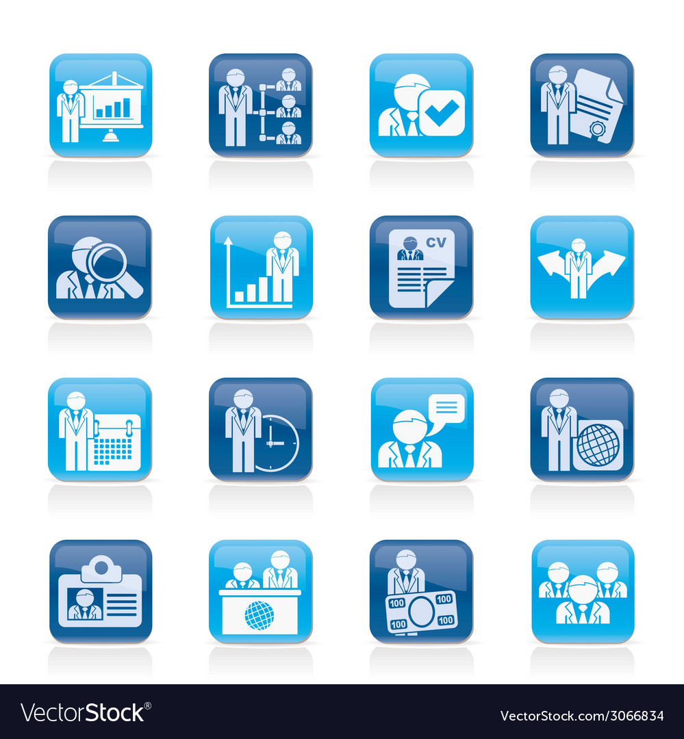 Human resource and employment icons vector | Price: 1 Credit (USD $1)