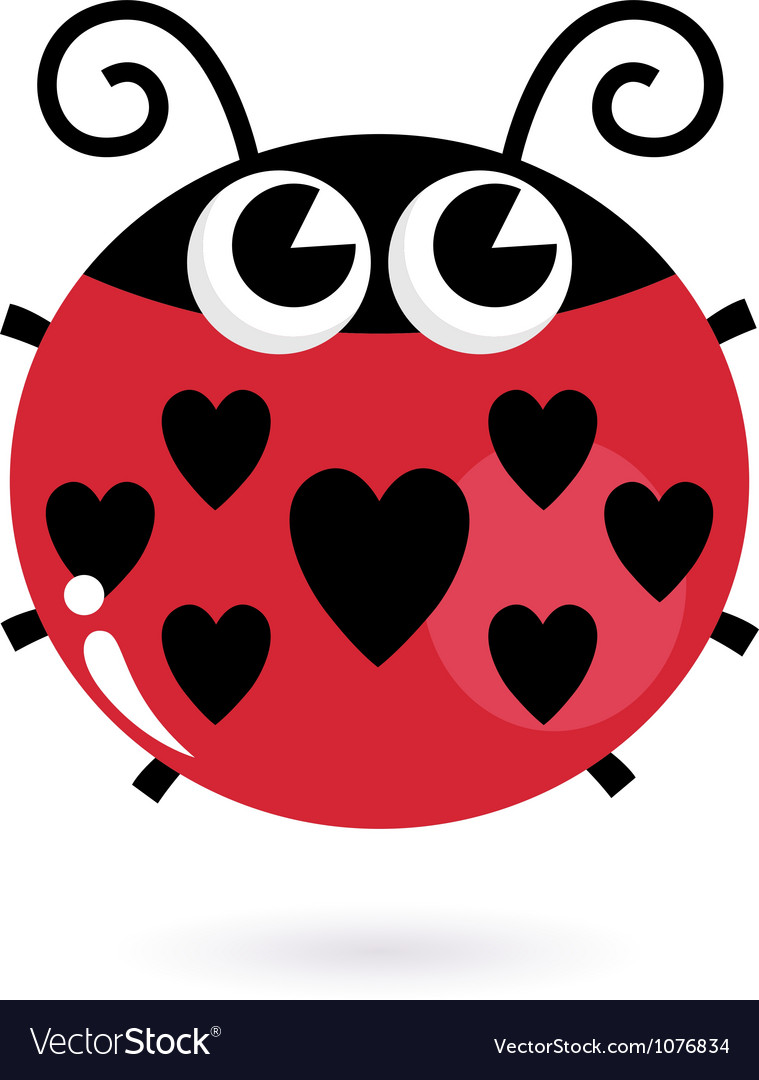 Ladybug love vector | Price: 1 Credit (USD $1)
