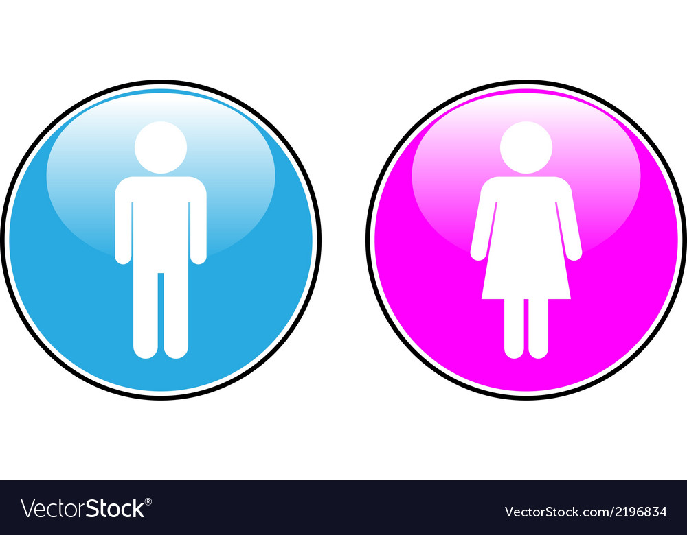 Male and female buttons vector | Price: 1 Credit (USD $1)