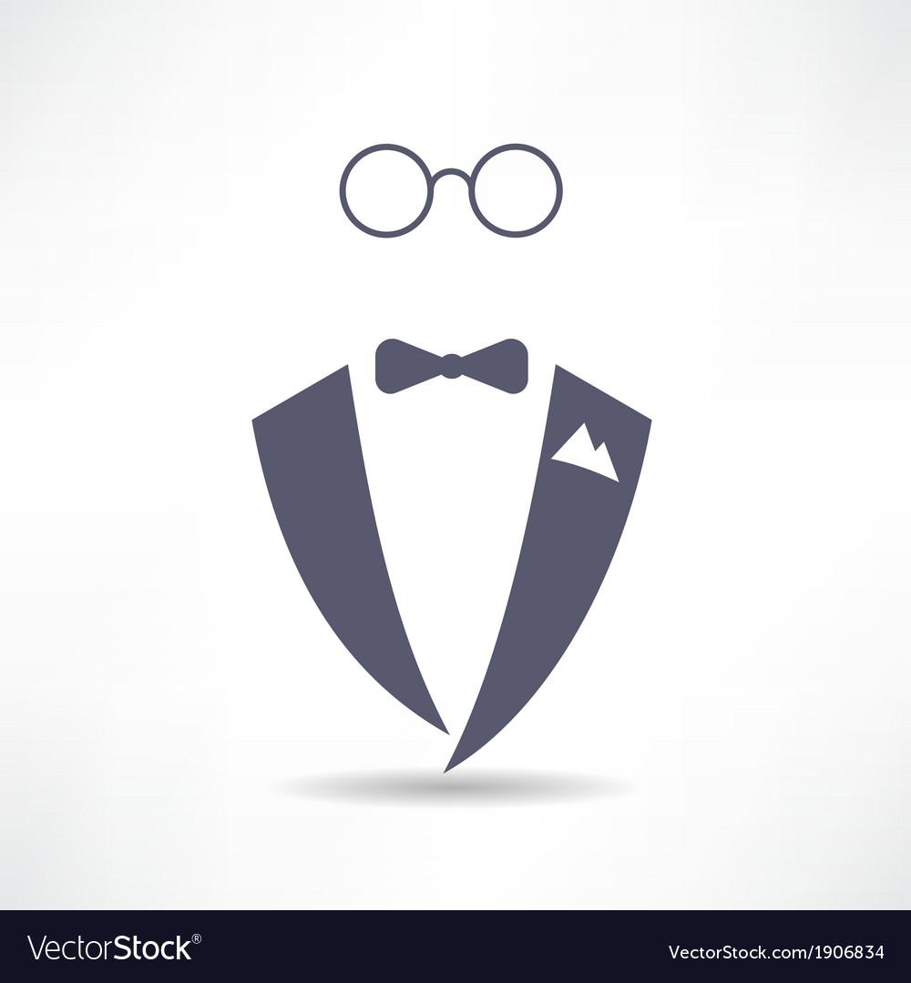 Man in tuxedo icon vector