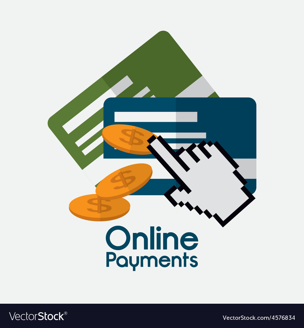 Online payments design vector | Price: 1 Credit (USD $1)