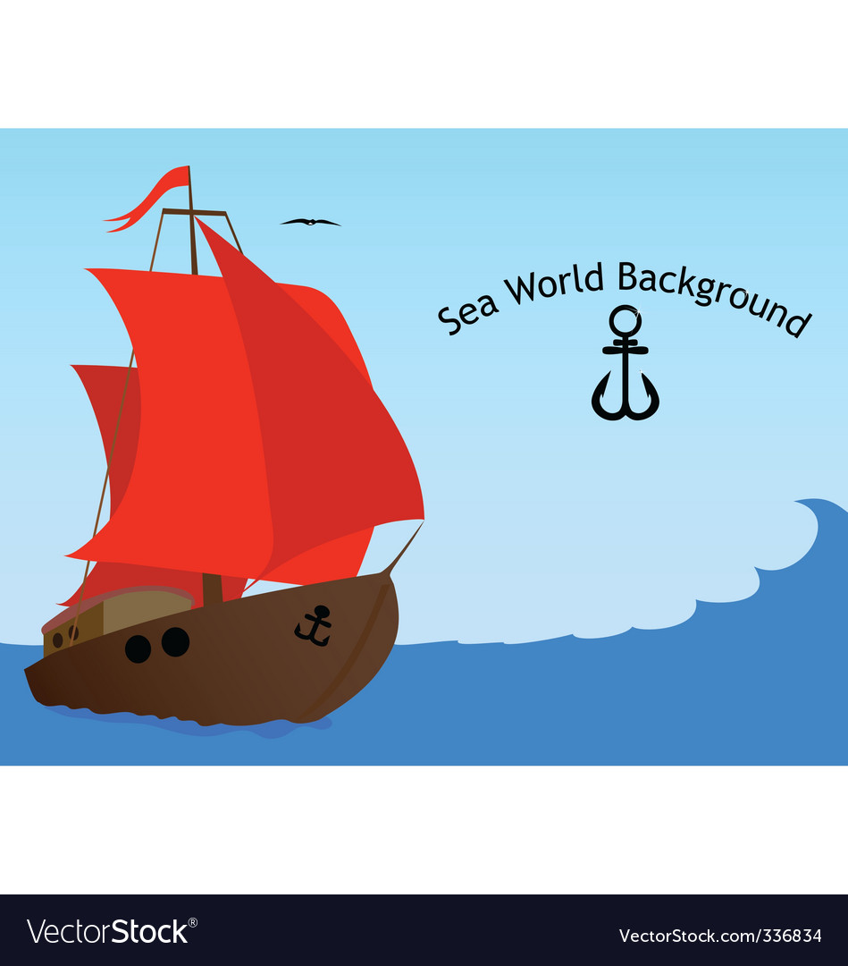 Sea world background vector | Price: 1 Credit (USD $1)